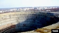 The Mir diamond mine in 1996