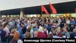 Сайлау нәтижесін бұрмалауға қарсы митинг. Владивосток, 17 қыркүйек 2018 жыл.