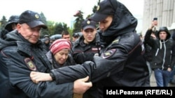Арест пенсионерки Людмилы Сидоровой. Самара, 7 октября.