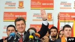 Predsednički kandidat Gjorge Ivanov nakon prvog izbornog kruga