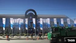 """Выставочный комплекс """"Ленэкспо"""", где проходит ПМЭФ"""