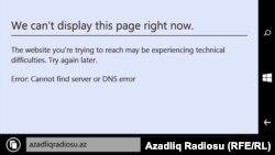 Azadliq.org mobil telefonda da blok olunur. 29mart2017