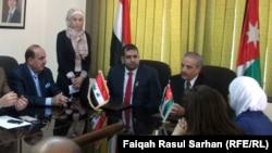 من مراسم توقيع الاتفاقية الثقافية بين العراق والاردن