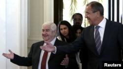 Валид ал Муалем и Сергеј Лавров