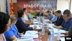Архивска фотографија - Економско социјален совет посветен на проектот Македонија вработува на која е присутен и претседателот на ССМ, Живко Митревски, 22.06.2016