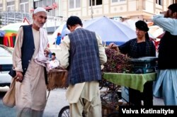 A market in Mazar-e Sharif