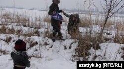Кыргыз-өзбек чек арасында.