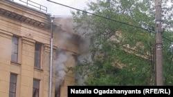 Пожар в Госархиве литературы и исскуства, 12 июля 2019 г.