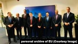 Шефицата на европската дипломатија Федерика Могерини и лидерите на земјите од Запaдeн Балкан