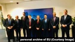 Liderët e vendeve të Ballkanit dhe Shefja e politikës së jashtme të Bashkimit Evropian, Federica Mogherini,