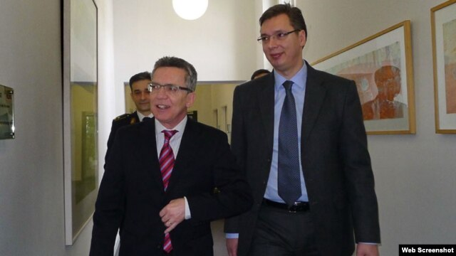 Guido Westerwelle i Aleksandar Vučić, foto: novosti.rs