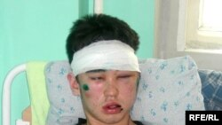 Bakhytzhan Nurpeisov in his hospital bed in Almaty