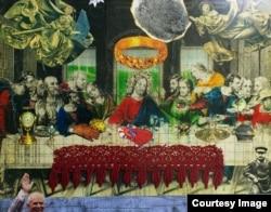 """Сергей Параджанов, """"Тайная вечерь"""", экспонат музея в Ереване"""