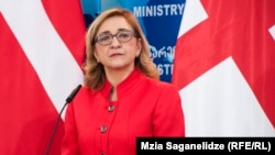 Outgoing Georgian Foreign Minister Tamar Beruchashvili (file photo)