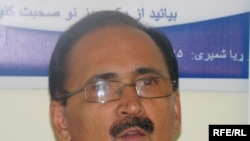 Information and Technology Minister Amirzai Sangin (file photo)