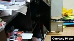 «Ազատության» գրասենյակը խուզարկությունից հետո, 26-ը դեկտեմբերի, 2014թ․