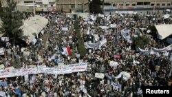 راهپیمایی معترضان در صنعا.
