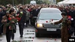 Похороны Анны Политковской в Москве