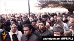 Акция протеста представителей МСБ у здания правительства Армении, Ереван, 27 января 2015 г․