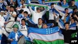 Futbol bo'yicha O'zbekiston milliy terma jamoasi muhlislari.
