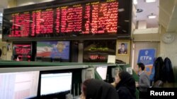 File Photo :Iran -- Stock market employees work at Tehran's Stock Exchange, January 17, 2016