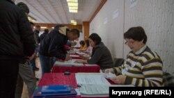 Избирательный участок в Симферопольском районе, 18 марта 2018 года