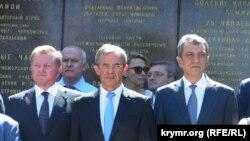 Тьери Мариани, Сергей Меняйло и Олег Белавенцев Крым 2015 г.
