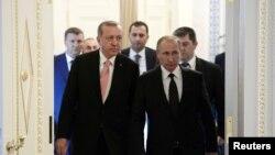 Redžep Tajip Erdogan i Vladimir Putin u Moskvi