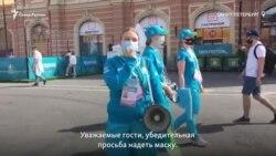 Как болельщики соблюдали COVID-ограничения в фанзоне в Петербурге