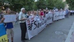 У Києві пройшла акція до дня народження Сенцова – відео