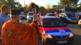 Serbian Orthodox Protesters Drive Toward Montenegro's Border