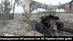 Військові навчання ЗСУ на адмінмежі з Кримом. Артилерійські стрільби.