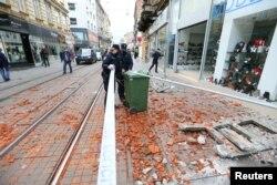 După cutremur, în capitala Zagreb