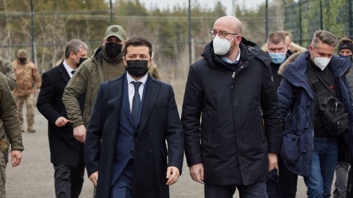 В ОПУ рассказали о ходе поездки Зеленского и президента Европейского совета на Донбасс