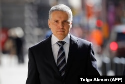 Russian tech entrepreneur Aleksei Gubarev arrives at the High Court in London in July 2020.