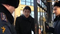 Акция протеста в защиту казахского беженца