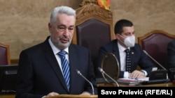 Zdravko Krivokapić, novi premijer Crne Gore, tokom trodnevne rasprave u Skupštini.