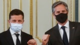 Владимир Зеленский и Энтони Блинкен на совместной пресс-конференции в Киеве 6 мая