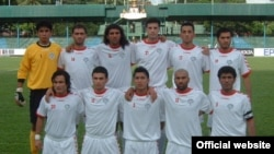 Afghanistan's national soccer team, pictured ahead of a match with Tajikistan in 2011, is ranked 139th in the world, 28 places ahead of 167th-ranked Pakistan.