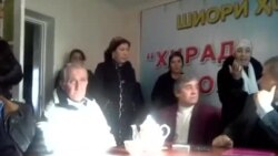 Women Disrupt Tajik Opposition Party's Press Conference