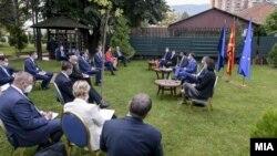 Брифинг на премиерот Зоран Заев со амбасадорите на земјите членки на ЕУ, Скопје 3 септември 2020