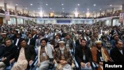 Лоя Жырганын делегаттары курултайда, Кабул, 21-ноябрь, 2013