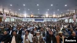 Afghanistan -- Members of Loya Jirga attend a gathering in Kabul, November 21, 2013