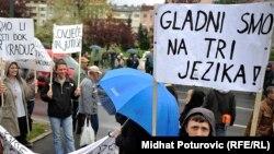 Protesti u Sarajevu 9. aprila 2014.