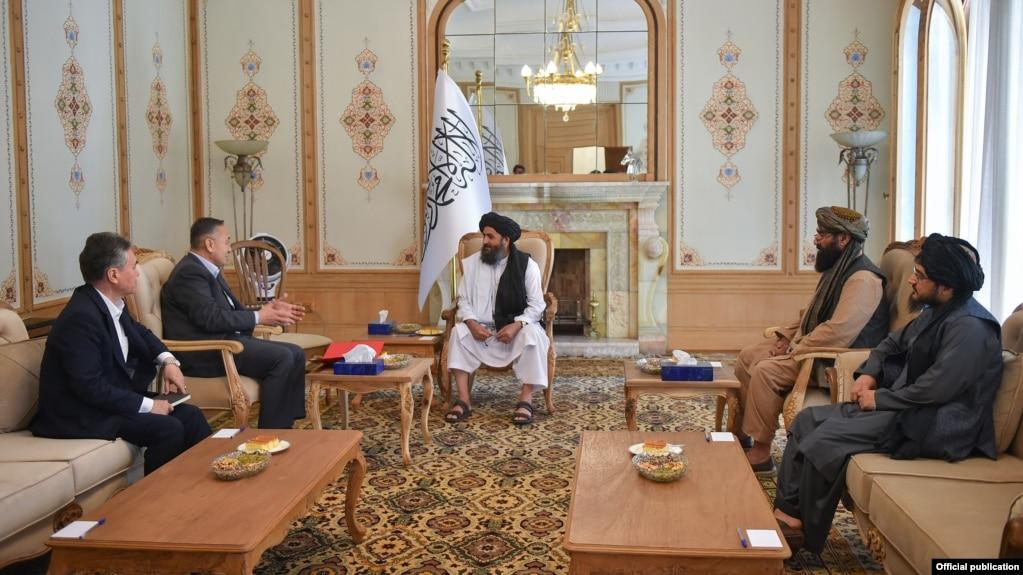 A Kyrgyz delegation met with the Taliban's acting Deputy Prime Minister Mullah Abdul Ghani Baradar on September 23.