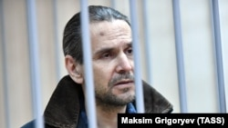 Boris Grits attends a court hearing in Moscow on January 18.