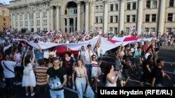 Антиурядові протести в Мінську, 16 серпня 2020 року