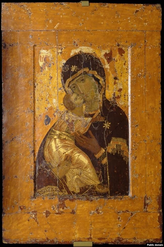Вишгородська ікона Божої Матері, нині відома як Володимирська. За переказами, її було вивезено після походу на Київ Володимиро-суздальським князем Андрієм Боголюбським
