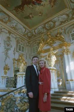 Дональд и Ивана Трамп в Эрмитаже, 1 июля 1987