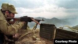 Военные действия в Нагорном Карабахе.